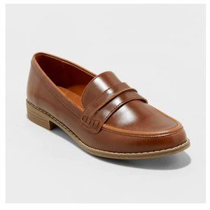 Universal Thread Quinn Penny Loafers Cognac